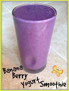 Banana Berry Yogurt Smoothie 3