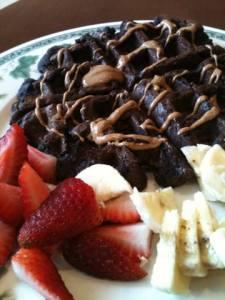 Chocolate Strawberry Waffle