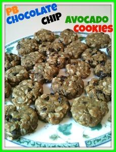 PB Choco Chip Avocado Cookies