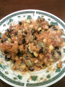 Sweet Potato, Corn, Salsa, Avo, Beans