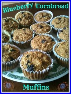 Blueberry Cornbread Muffins 2