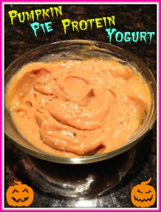 Pumpkin Pie Protein Yogurt