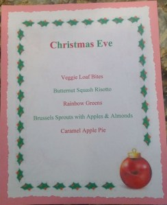 Christmas Eve 13 Menu