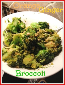 Orange Ginger Broccoli